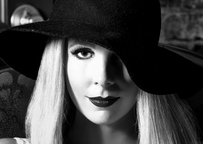 Female portrait in black and white
